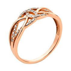 Акция на Кольцо из красного золота с цирконием 000134542 18 размера от Zlato