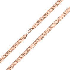 Акция на Браслет из красного золота в плетении Ромб, 7,5 мм 000143823 21 размера от Zlato
