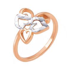 Акция на Золотое кольцо в комбинированном цвете с алмазной гранью 000130212 17 размера от Zlato