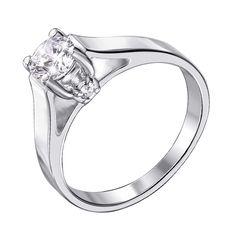 Акция на Серебряное кольцо с фианитами 000140652 18.5 размера от Zlato