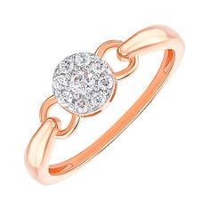 Акция на Золотое кольцо в комбинированном цвете с цирконием 000145852 19 размера от Zlato