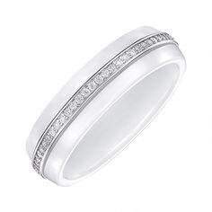 Акция на Кольцо серебряное с керамикой и фианитами 000147858 17 размера от Zlato