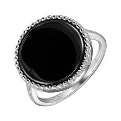 Акция на Серебряное кольцо с керамикой 000147843 17.5 размера от Zlato