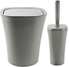 Акция на Набор аксессуаров для ванной комнаты PLANET Papillon 2 предмета серый от Rozetka
