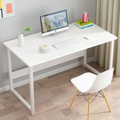Акция на Письменный стол Металл-Лофт М1 L 60х100х75 см Белый/Белый (00172) от Allo UA