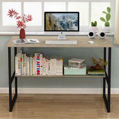 Акция на Письменный стол Металл-Лофт М3 L 50х120х75 см Черный/Дуб Сонома (00173) от Allo UA