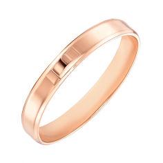 Акция на Обручальное кольцо из красного золота 000103671 15.5 размера от Zlato