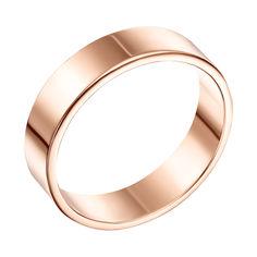 Акция на Золотое обручальное кольцо Классический стиль в красном цвете 17.5 размера от Zlato