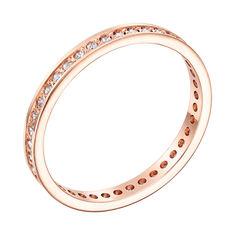 Акция на Золотое обручальное кольцо Согласие в красном цвете с фианитами 16 размера от Zlato