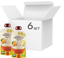 Акция на Упаковка овсяной безмолочной каши Rudolfs с персиком и бананом без глютена органическая с 4 месяцев 6 шт х 110 г (114751017941796) от Rozetka
