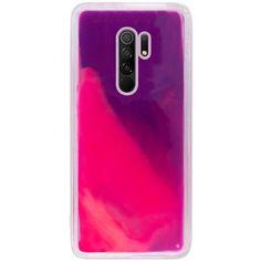 Акция на Неоновый чехол Neon Sand glow in the dark для Xiaomi Redmi 9 Фиолетовый / Розовый от Allo UA