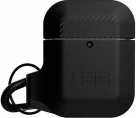 Акция на Чехол для наушников Urban Armor Gear Uag Silicone Case Black/Black (10185E114040) for Apple AirPods 1/2 от Stylus