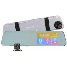 Акция на Видеорегистратор зеркало DVR A29 с камерой заднего вида Grey (6916) от Allo UA