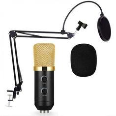 Акция на Микрофон студийный конденсаторный MHZ DM-800U AUX USB Black-gold от Allo UA
