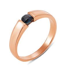 Акция на Кольцо из красного золота с сапфиром 000131180 16 размера от Zlato