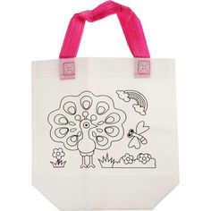 Акция на Детская эко-сумка раскраска с фломастерами и стразами Wellamart, Павлин (Арт. 5920-9) от Allo UA