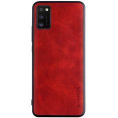 Акция на Кожаный чехол AIORIA Vintage для Samsung Galaxy A41 Красный от Allo UA