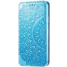 Акция на Кожаный чехол книжка GETMAN Mandala (PU) для Samsung Galaxy A51 Синий от Allo UA