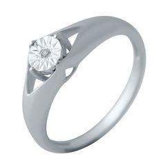 Акция на Кольцо из серебра с бриллиантами, размер 16.5 (1738417) от Allo UA