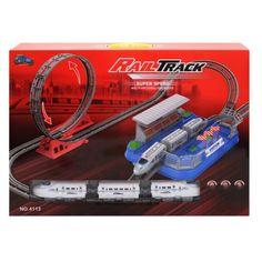Акция на Детский паровоз железная дорога Rail Track XINJIAFENG  4113, в коробке 55*40*9,5см. от Allo UA