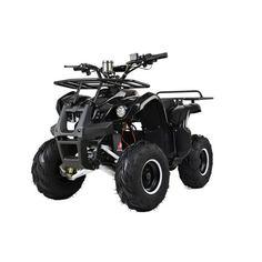 Акция на Квадроцикл для подростков Profi HB-EATV1000D-2(MP3), мотор 1000W безщеточный, 4 аккумулятора 12V/20AH, до 30 км/ч, до 120 кг, Черный от Allo UA