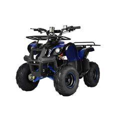 Акция на Квадроцикл для подростков Profi HB-EATV1000D-4(MP3), мотор 1000W безщеточный, 4 аккумулятора 12V/20AH, до 30 км/ч, до 120 кг, Синий от Allo UA