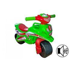 Акция на Детский беговел, качалка Doloni toys Мотоцикл музыкальный Sport зеленый от Allo UA