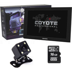 Акция на GPS навигатор видеорегистратор COYOTE 1090 DVR Maximus PRO 1GB/16GB 9 дюймов для грузовиков + Камера заднего вида с подсветкой + Карта памяти 16Gb MicroSD от Allo UA