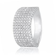 Акция на Кольцо из серебра с куб. циркония, размер 15.5 (282550) от Allo UA