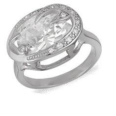 Акция на Кольцо из серебра с куб. циркония, размер 16.5 (072147) от Allo UA