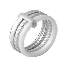 Акция на Кольцо из серебра с керамикой, размер 17 (1745616) от Allo UA