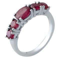 Акция на Кольцо из серебра с рубинами, размер 18.5 (1730415) от Allo UA