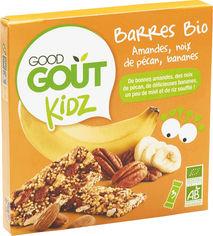 Акция на Батончики Good Gout с миндальным орехом, орехами и бананом 20 г х 3 шт (3760269310360) от Rozetka