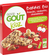 Акция на Батончики Good Gout с миндалем, арахисом и клюквой 20 г х 3 шт (3760269310353) от Rozetka