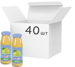Акция на Упаковка сока Малятко Яблоко 175 мл х 40 шт (4820123510523) от Rozetka