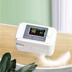 Акция на Пульсоксиметр электронный портативный оксиметр пульсометр на палец с Oled-дисплеем для измерения пульса и сатурации крови LK89 Белый от Allo UA