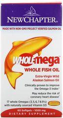 Акция на Жирные кислоты New Chapter Wholemega омега из рыбьего жира 1000 мг 60 желатиновых капсул (727783050021) от Rozetka
