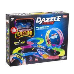 Акция на Детский гоночный трек Dazzle Tracks NEW 187 деталей Машинки на радиоуправлении, гоночная трасса от Allo UA