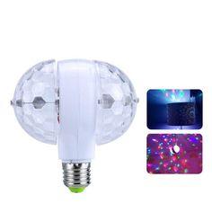 Акция на Диско LED лампа светодиодная двойная с вращением и патроном E27 Magic Ball Light от Allo UA