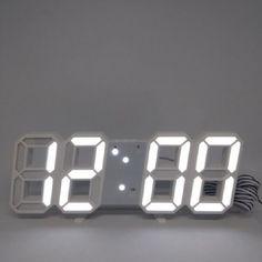 Акция на Часы электронные настольные LED VST LY 1089 с будильником и термометром Белый от Allo UA