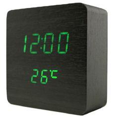 Акция на Часы электронные настольные LED VST-872 Черные от Allo UA
