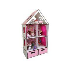Акция на Кукольный домик FANA для кукол ЛОЛ LOL LITTLE FUN maxi c мебелью, текстилем и БОКСОМ для игрушек (2107) от Allo UA