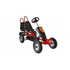 Акция на Современный двухместный веломобиль с 2 скоростями для детей от 5 лет до 150 кг Double красный 190х100х80 см от Allo UA