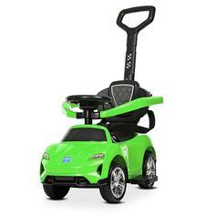 Акция на Детский Электромобиль Каталка-Толокар с музыкальным рулем, светом фар и родительской ручкой, до 25кг, зеленый* от Allo UA