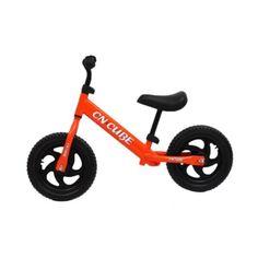 Акция на Легкий маневренный двухколесный беговел с подножкой для детей до 30 кг для улицы LX R оранжевый 86х40х50 см от Allo UA
