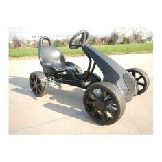 Акция на Современный металлический веломобиль для детей и взрослых для улицы до 80 кг El Coche черный 117х63х70 см от Allo UA