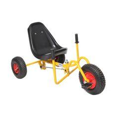 Акция на Современный веломобиль с камерными колесами для детей от 3 до 15 лет до 60 кг WOW желтый для улицы 113х58х57см от Allo UA