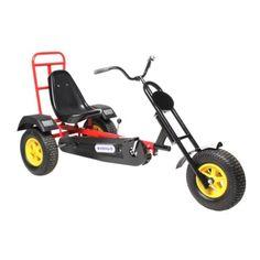Акция на Современный металлический веломобиль-мотоцикл для подростков и взрослых до 120 кг Harley красный 175х77х88 см от Allo UA