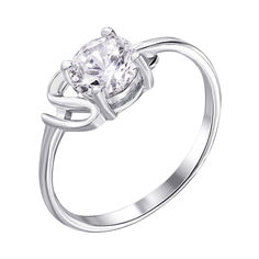 Акция на Серебряное кольцо с фианитом 000122457 17.5 размера от Zlato