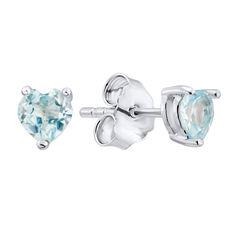Акция на Серебряные серьги-пуссеты с бледно-голубыми топазами 000125140 от Zlato